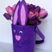 Felt Easter Bunny Vase