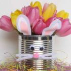 Easter Bunny Tin Vase